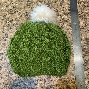 Green Cable Knit Beanie